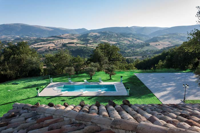 View of Le Marche from exclusive villa